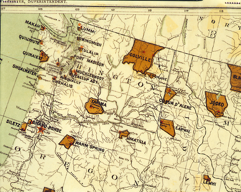 Mapres on Sioux Indian Reservation Map